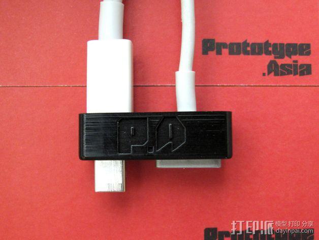 苹果Macbook Pro电脑插孔保护外壳 3D模型  图6