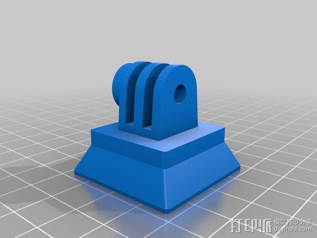 GoPro Hero2 相机三脚架连接器 3D模型  图2
