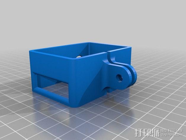 GoPro Hero2 相机三脚架连接器 3D模型  图4
