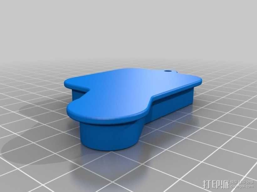 GoPro Hero 3+ 相机镜头盖 电源按钮罩 3D模型  图1