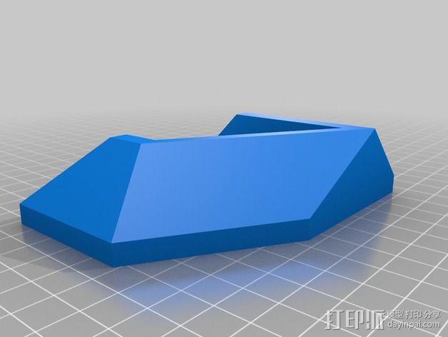 ps4游戏机直立支架 3D模型  图3