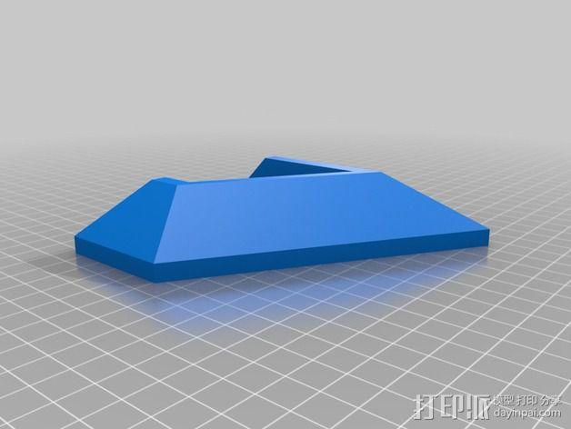 ps4游戏机直立支架 3D模型  图2
