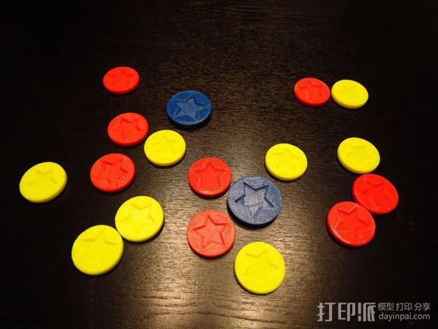 超级马里奥星星徽章 3D模型  图3