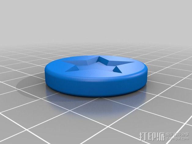 超级马里奥星星徽章 3D模型  图2