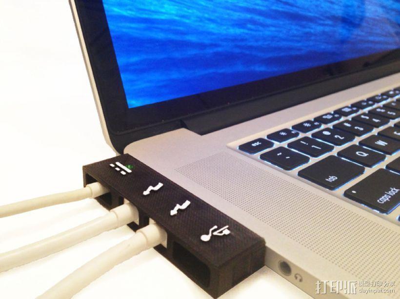 苹果MacBook Pro Retina 电脑插槽保护壳 3D模型  图1