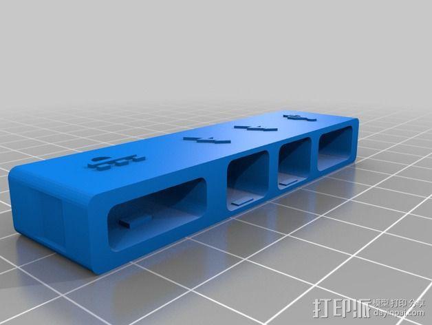 苹果MacBook Pro Retina 电脑插槽保护壳 3D模型  图3
