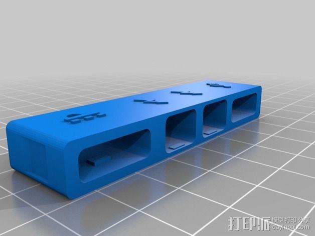 苹果MacBook Pro Retina 电脑插槽保护壳 3D模型  图6