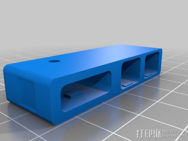 苹果MacBook Pro Retina 电脑插槽保护壳 3D模型  图9