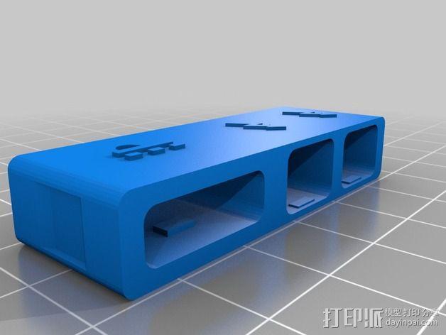 苹果MacBook Pro Retina 电脑插槽保护壳 3D模型  图7