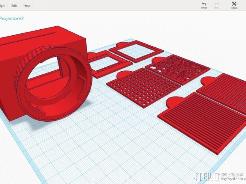 尼康相机闪光灯罩 3D模型  图4