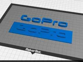 GOPRO相机品牌LOGO 3D模型