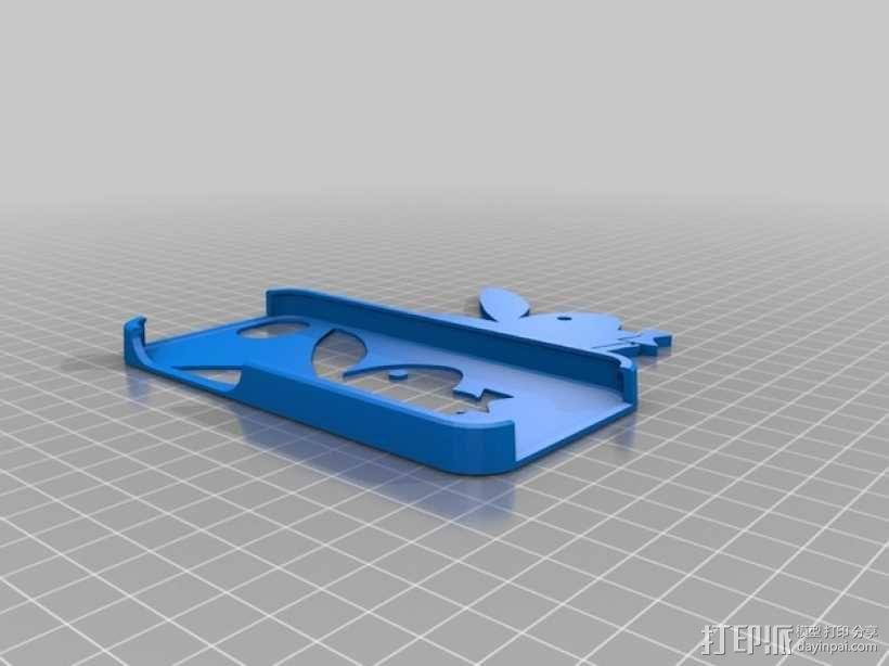 花花公子iPhone5手机外壳 3D模型  图3