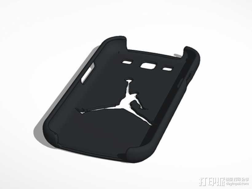 Nike Jordan 耐克乔丹标志三星Galaxy S3 手机套 3D模型  图1