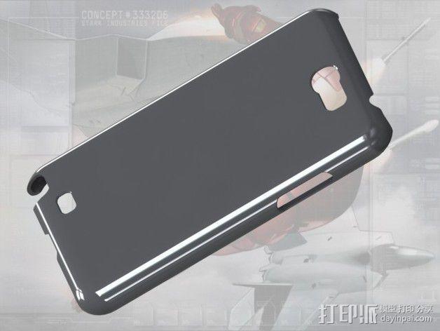 三星Galaxy Note 2 手机保护套 3D模型  图1