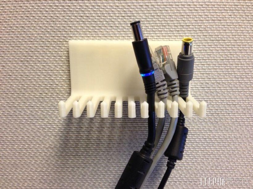 壁挂式电缆收纳架 3D模型  图1