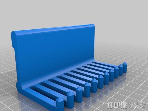壁挂式电缆收纳架 3D模型  图2