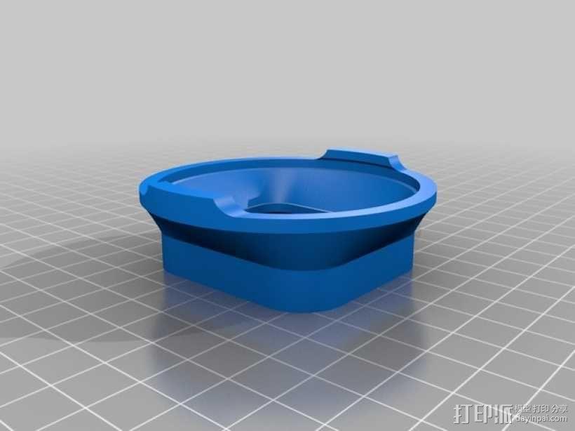 GoPro Hero3 相机镜头适配器 3D模型  图2