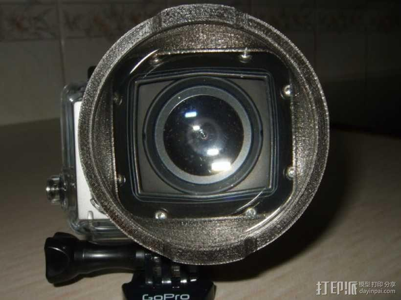 GoPro Hero3 相机镜头适配器 3D模型  图1
