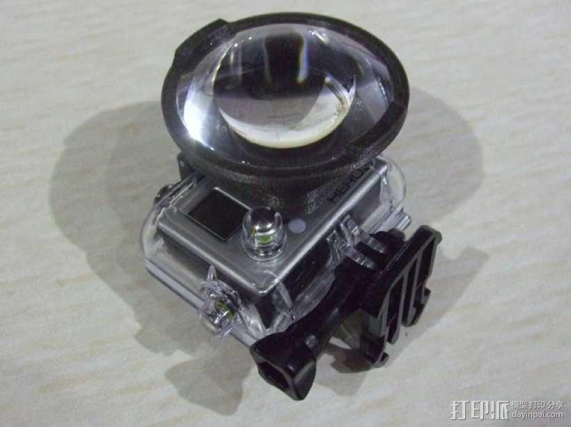 GoPro Hero3 相机镜头适配器 3D模型  图4