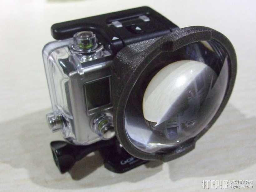 GoPro Hero3 相机镜头适配器 3D模型  图3