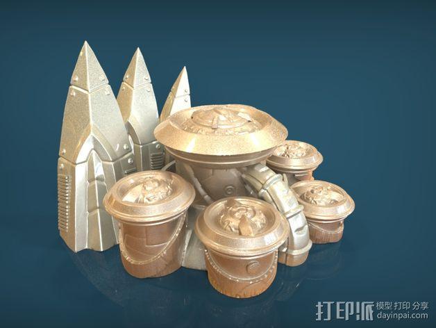 星际争霸神族控制器模型 3D模型  图2