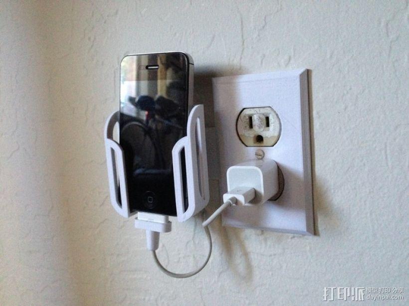 壁挂式手机充电座 3D模型  图4