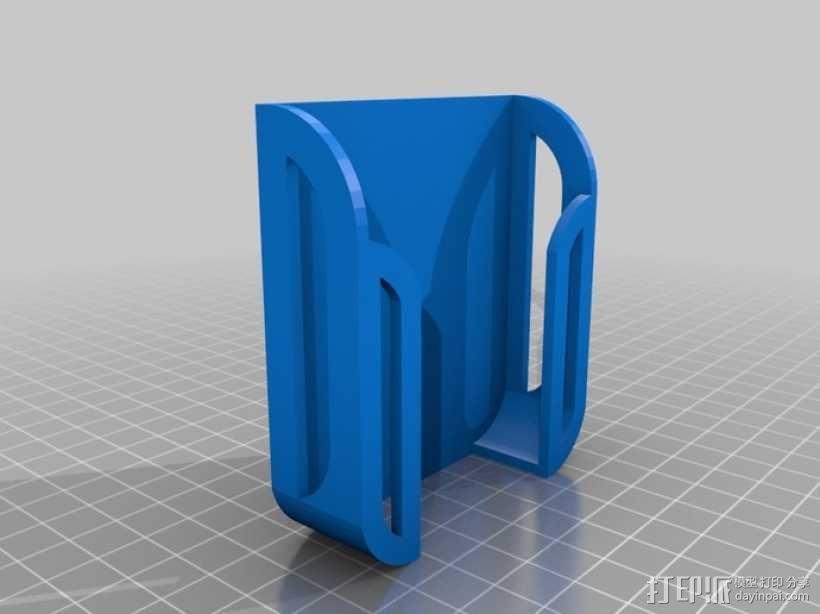 壁挂式手机充电座 3D模型  图3