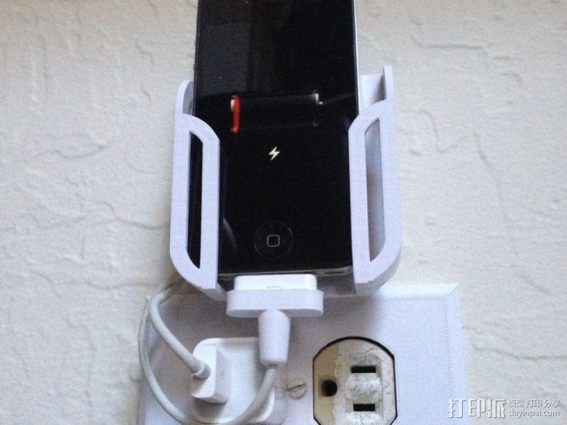 壁挂式手机充电座 3D模型  图6