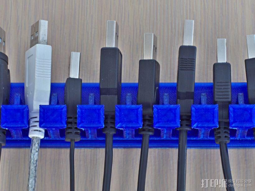 参数化的USB收纳器 3D模型  图1