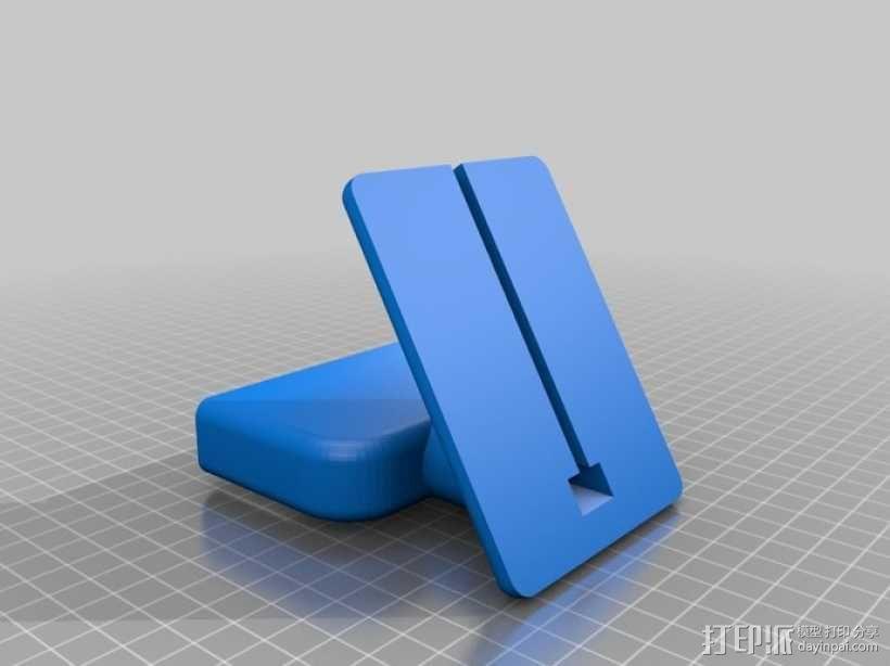 盖世4桌面站架 3D模型  图1