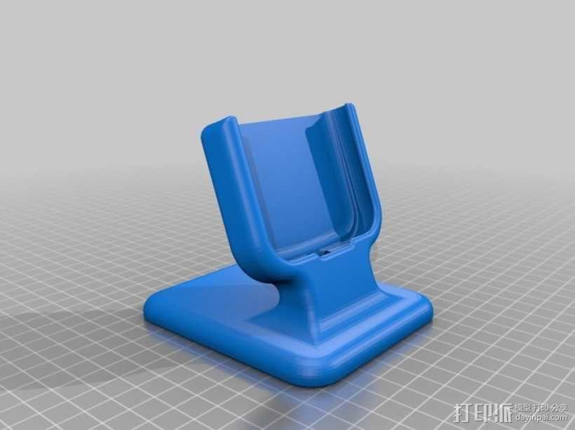 三星Galaxy S3桌面支持站架 3D模型  图1