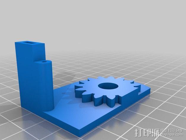 铰接板盒子 3D模型  图3