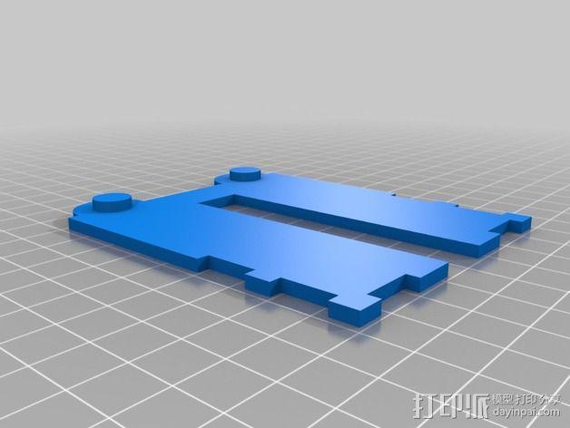 铰接板盒子 3D模型  图4