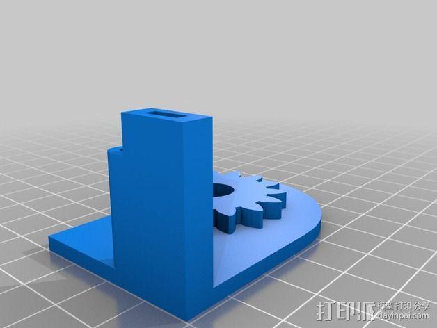 铰接板盒子 3D模型  图2