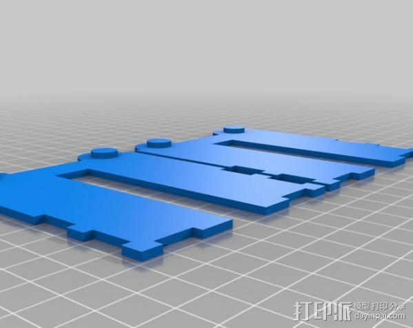 铰接板盒子 3D模型  图12