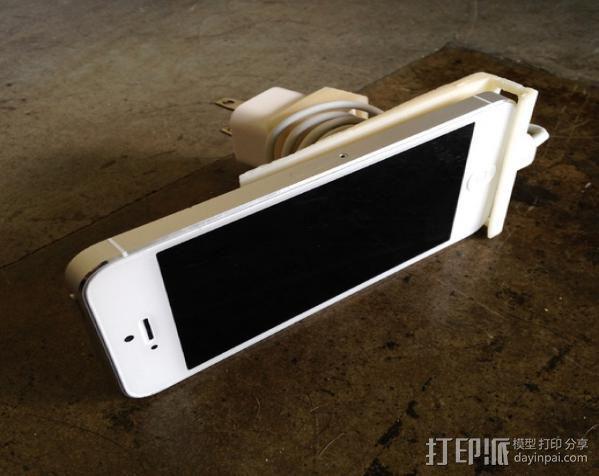 壁挂式iPhone 5手机充电座 3D模型  图4