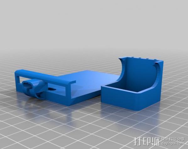 壁挂式iPhone 5手机充电座 3D模型  图2