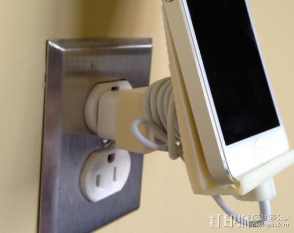 壁挂式iPhone 5手机充电座 3D模型  图8