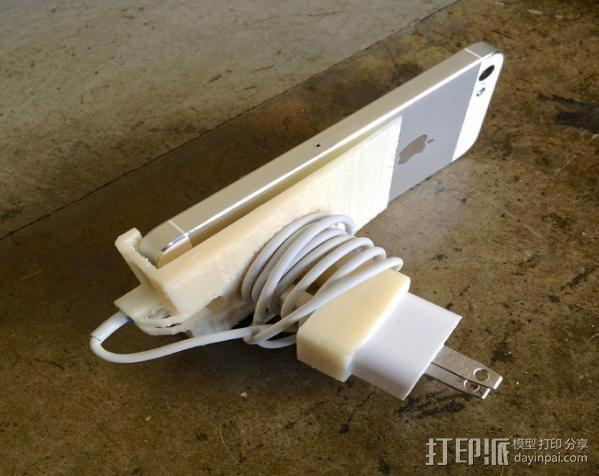 壁挂式iPhone 5手机充电座 3D模型  图7