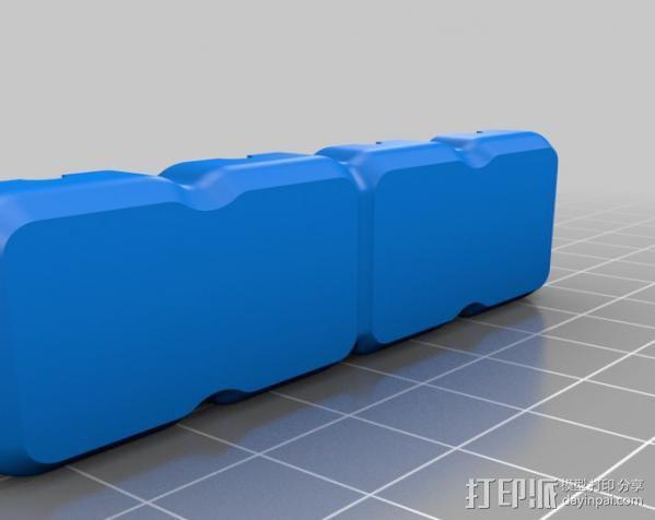 阻尼式万向节模具 3D模型  图2