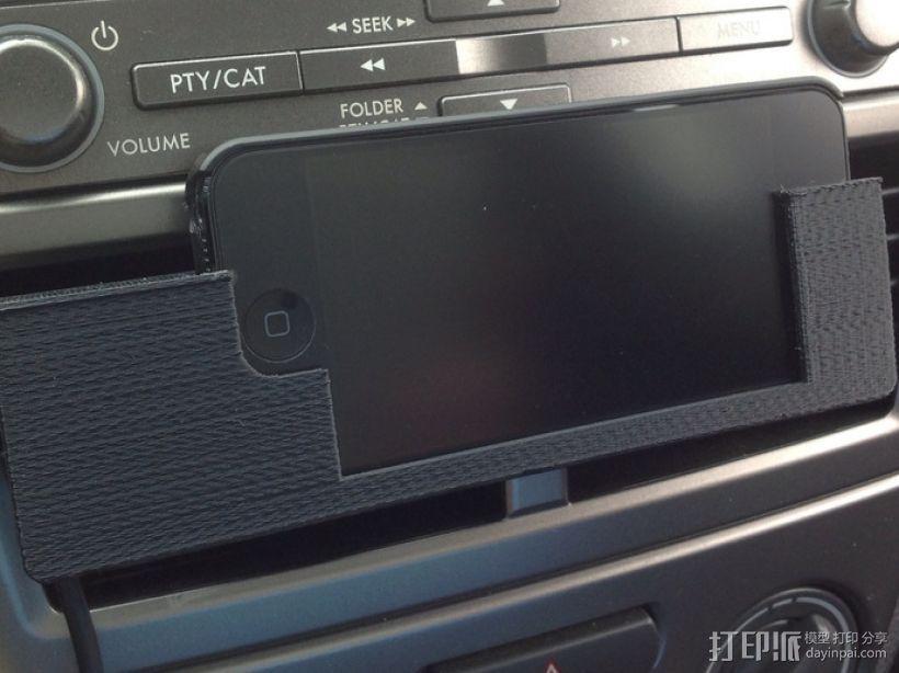 车载式iPhone5手机座 3D模型  图1