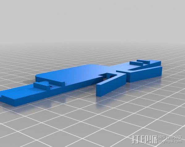 车载式iPhone5手机座 3D模型  图2