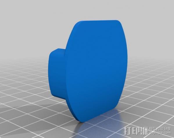 GoPro 相机平底底座 3D模型  图2