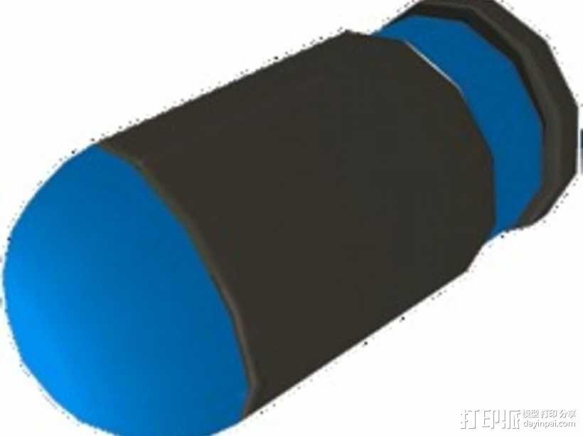 军团要塞2 手榴弹弹闸 3D模型  图1
