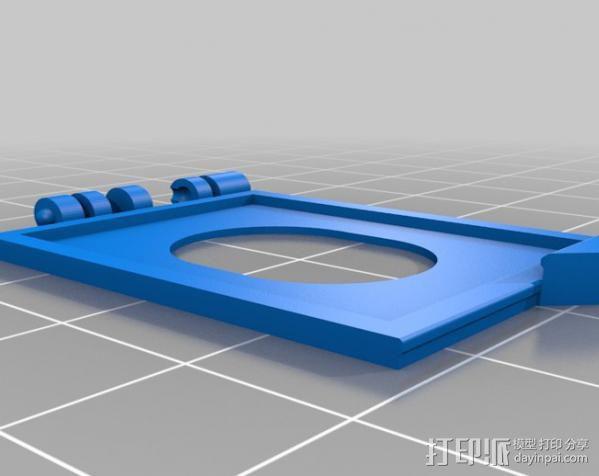 SD卡夹盒 收纳盒 3D模型  图2