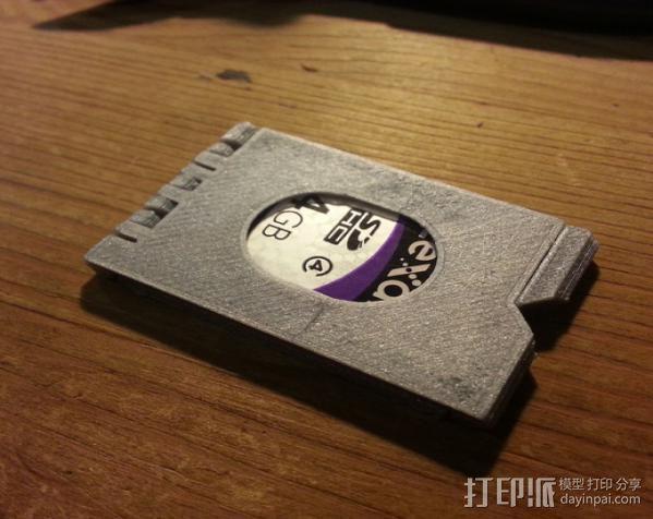 SD卡夹盒 收纳盒 3D模型  图3
