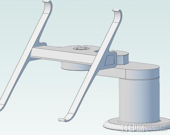 Ipad3 平板电脑支撑架 3D模型  图1