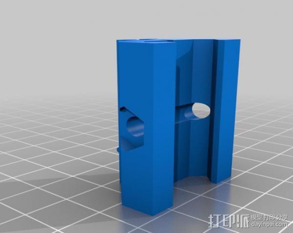 相机滑座 连接器 3D模型  图1