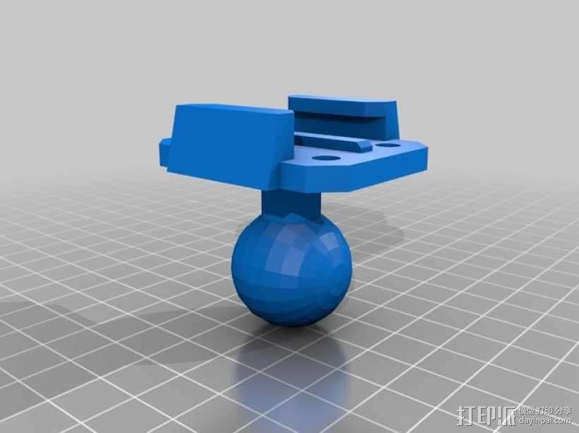 GoPro相机球形底座 3D模型  图1