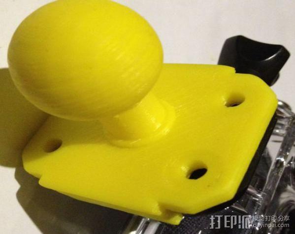 GoPro相机球形底座 3D模型  图2